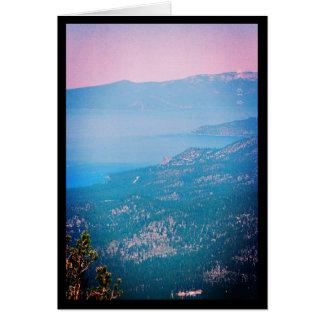 Chanson de brume du lac Tahoe de solénoïde. Carte