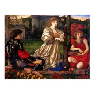 Chanson de l'amour - Edward Burne-Jones Carte Postale