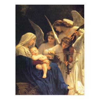 Chanson des anges, William-Adolphe Bouguereau Carte Postale