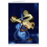 Chanson et danse de destin de ficelle de musique cartes de vœux