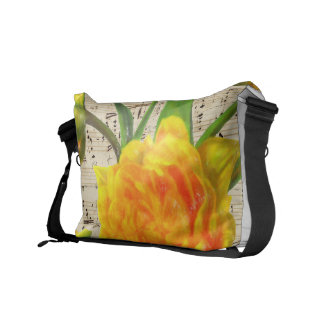Chanson jaune de tulipes sacoche