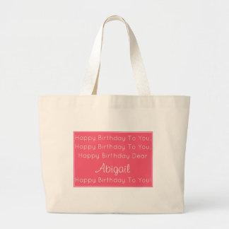 Chanson rose de joyeux anniversaire personnalisée grand sac