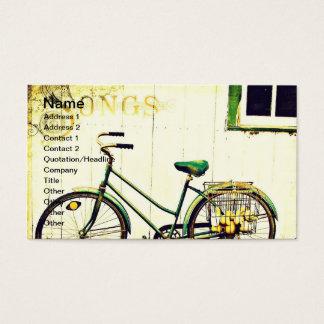 Chansons de bicyclette d'automne cartes de visite