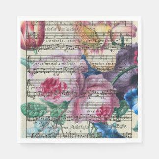 Chansons florales serviette en papier