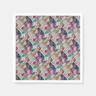 Chansons florales serviettes en papier