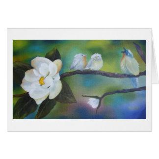 Chant à la carte de voeux de Blanck de magnolia