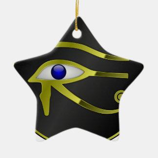 Chant religieux égyptien d'or de l'Egypte de Ra Ornement Étoile En Céramique