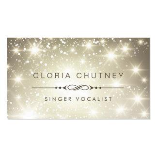 Chanteur/chanteur - scintillement de scintillement carte de visite standard