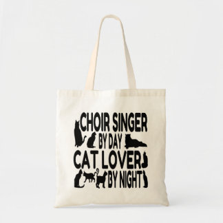 Chanteur de choeur d'amoureux des chats sacs de toile