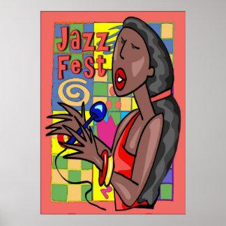 Chanteur de Fest de jazz Posters