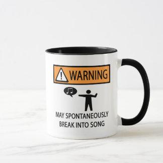 Chanteur spontané d'avertissement mug