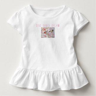 Chantez à danse les oiseaux rêveurs pièce en t de t-shirt pour les tous petits