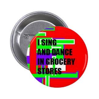 Chantez/bouton de danse badge rond 5 cm