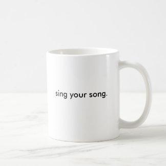 chantez votre chanson (la tasse) mug