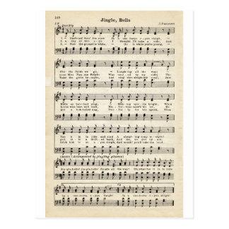 Chants de Noël : Tintements du carillon Carte Postale