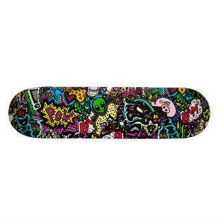Chaos dans le conseil de couleur skateboard old school  21,6 cm