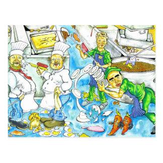 Chaos de cuisine carte postale