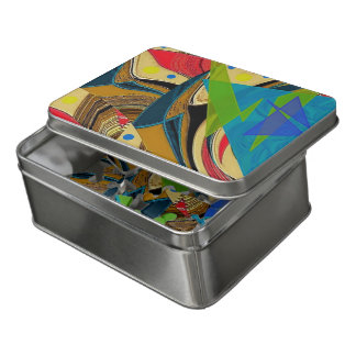 """""""Chaos en couleurs"""" 8 x 10 puzzle acrylique w/Tin"""