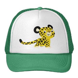 Chapeau amical de léopard de bande dessinée mignon casquette de camionneur