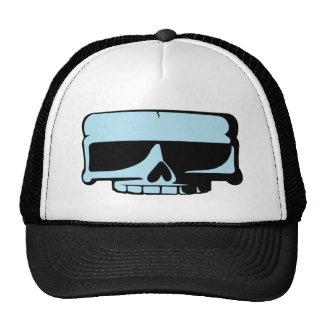 Chapeau bleu de crâne casquette de camionneur