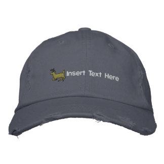 Chapeau brodé par chasse faite sur commande de cer