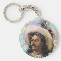 chapeau cavalier porte-clés