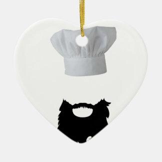 Chapeau Cook Ornement Cœur En Céramique