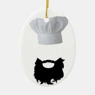 Chapeau Cook Ornement Ovale En Céramique