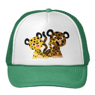 Chapeau coquet mignon de jaguars de bande dessinée casquette de camionneur