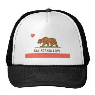 Chapeau d'amour de la Californie Casquette Trucker
