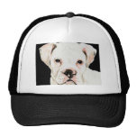 """Chapeau d'art de chien """"de boxeur blanc"""" casquettes"""