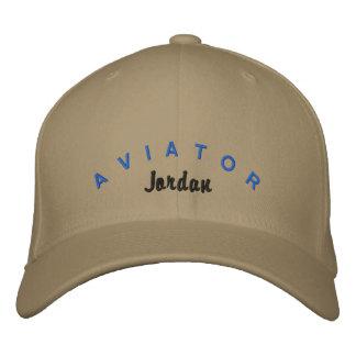 Chapeau d'aviateur casquette brodée