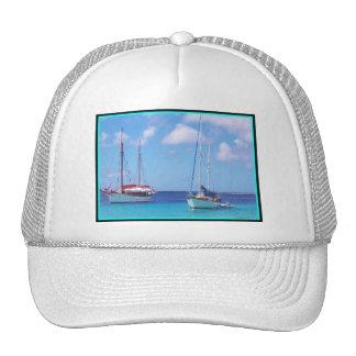 Chapeau de camionneur avec des bateaux à voile casquette