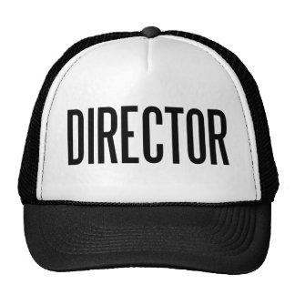 Chapeau de camionneur de directeur casquettes de camionneur