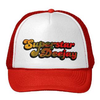 Chapeau de camionneur de disc-jockey de superstar casquettes de camionneur