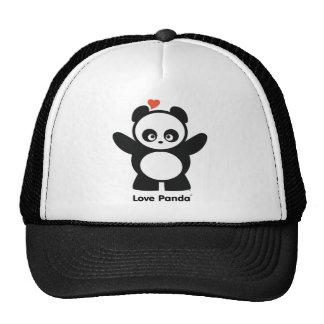 Chapeau de camionneur de Panda® d'amour Casquettes