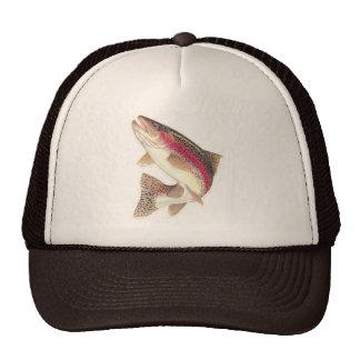 Chapeau de camionneur de truite arc-en-ciel casquettes de camionneur