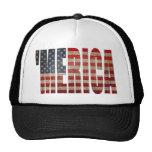 Chapeau de camionneur du drapeau MERICA des USA af Casquettes