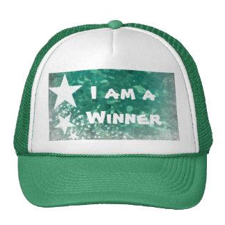 Chapeau de camionneur je suis un gagnant casquettes