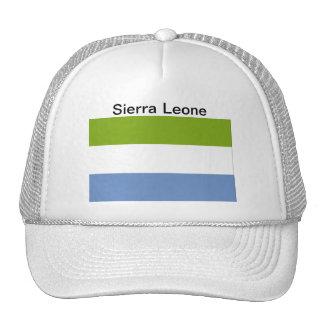 Chapeau de drapeau de Sierra Leone Casquettes De Camionneur