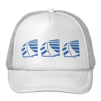 Chapeau de emballage bleu de bateaux à voile casquettes