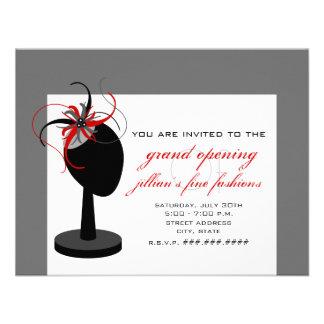 Chapeau de Fascinator - ouverture officielle de ma Invitation Personnalisable