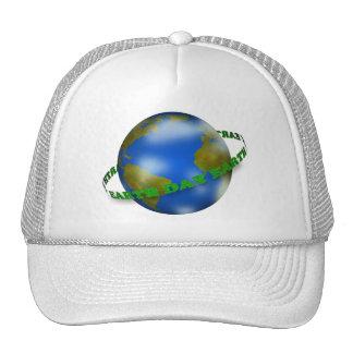 Chapeau de globe de jour de la terre casquettes