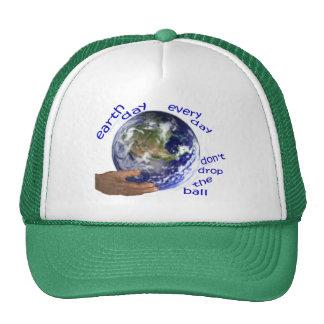 chapeau de jour de la terre casquettes de camionneur