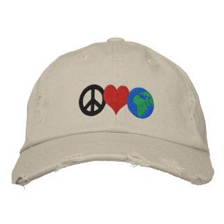 Chapeau de jour de la terre casquette brodée