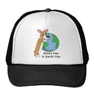 Chapeau de jour de la terre de corgi casquettes