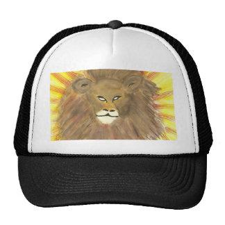 Chapeau de lion d'aquarelle casquettes