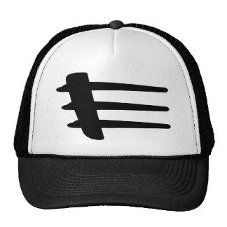 Chapeau de liston de côté de courant perturbateur casquette