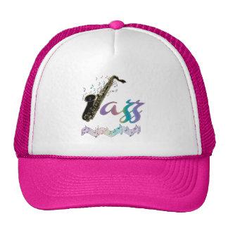 Chapeau de musique de saxophone de jazz casquettes de camionneur