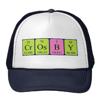 Chapeau de nom de table périodique de Crosby Casquette De Camionneur